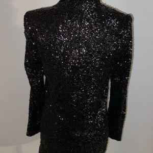 Express Jackets & Coats - Express Black Sequin Boyfriend Blazer